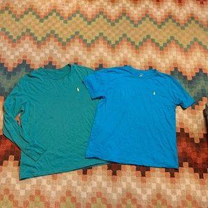 EUC Ralph Lauren Polo T-shirt Lot XL Blue & Green